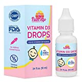 Flamingo Supplements- Vitamin D3 Baby Drops for Infants and Kids (400 IU). 6 Month Supply (10 ML) - Tasteless, Non-GMO, Kosher, Pediatrician Recommended, Promotes Healthy Growth & Bone Development