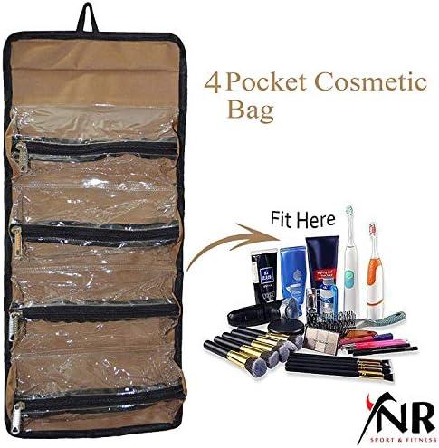 Neceser organizador de maquillaje enrollable para colgar joyas: Amazon.es: Belleza
