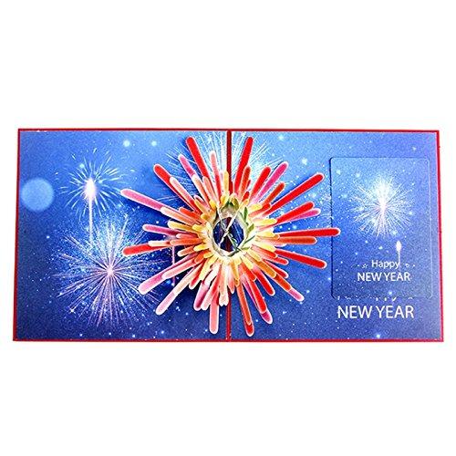 Kofun Tarjeta De Felicitación Con Sobre 3d Año Nuevo