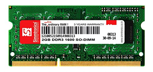 Simmtronics 2GB DDR3 Laptop RAM 1600 MHZ