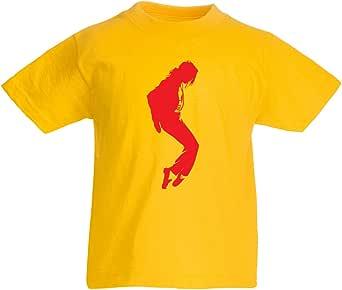 lepni.me Camiseta para Niños Me Encanta MJ El Rey del Pop Fanático De La Música y De Baile Art de Los Años 80 y 90