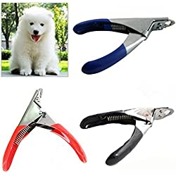 1 Pc Safe Pet Nail Clippers Stainless Steel - Dog Cat Puppy Pet Grooming Nail Clippers & Trimmer - Pet Nail Clippers adn Cutter Tool for Small Animals - Random Color