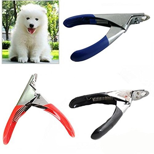 Gripsoft Deluxe Nail Trimmer (1 Pc Safe Pet Nail Clippers Stainless Steel - Dog Cat Puppy Pet Grooming Nail Clippers & Trimmer - Pet Nail Clippers adn Cutter Tool for Small Animals - Random Color)