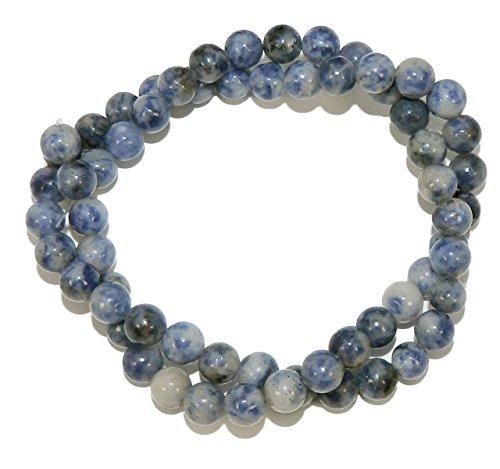 6mm Denim Lapis Natural Gemstone Round Beads Approx 40cm 15