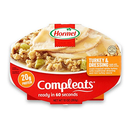 (HORMEL COMPLEATS Mirowave Meals - Shelf Stable - Turkey and Dressing - 10 Ounce (Pack of 6))