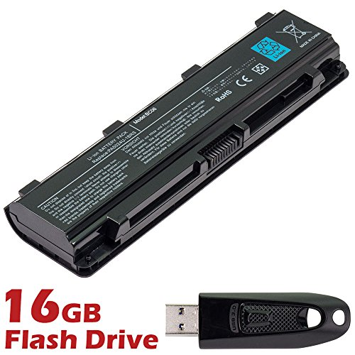 Battery 1brs Notebook Replacement - BattpitTM Laptop/Notebook Battery Replacement for Toshiba PA5121U-1BRS (4400 mAh / 48Wh) with 16GB BattpitTM USB Flash Drive