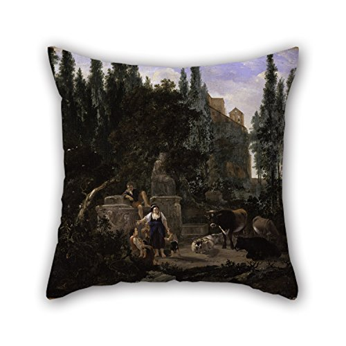 [Beautifulseason Oil Painting Lapp, Jan - An Italian Landscape With Figures And Cattle Throw Cushion Covers 16 X 16 Inches / 40 By 40 Cm For Car Seat,birthday,festival,office,sofa,adults With 2] (Crosby Halloween Costume)