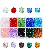 Kristalglaskralen Glaskralen Edelstenen Assortiment Glaskralen Facet Kristalkralen Glaskralen Kleurrijk 10 Diverse Kleuren Met Doos Voor Diy Sieraden Ketting Armband Handwerk 1000 Stuks