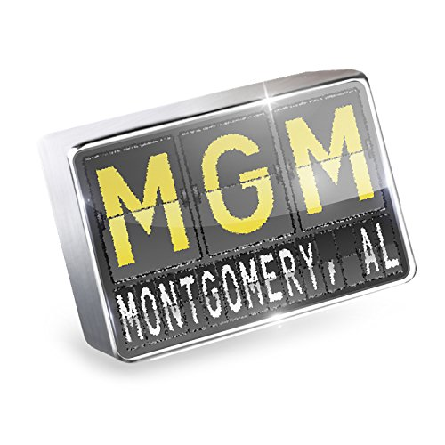 Floating Charm MGM Airport Code for Montgomery, AL Fits Glass Lockets, - Glass Al Montgomery