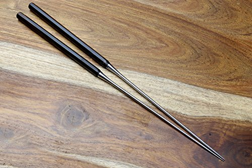 YOSHIHIRO - Moribashi Chopsticks Octagona Premium Ebony Handle [Japanese Sushi Chef's tool]-Made in Japan (7 IN) by Yoshihiro