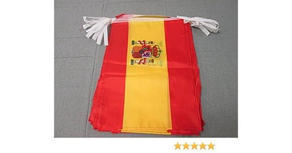 AZ FLAG Guirnalda 12 Metros 20 Banderas de ESPAÑA 45x30cm - Bandera ESPAÑOLA 30 x 45 cm - BANDERINES: Amazon.es: Hogar