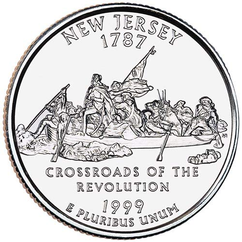 1999 S Silver Proof New Jersey State Quarter Choice Uncirculated US Mint