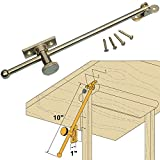 Woodworker's Supply, Inc. 800539, Hardware, Closing Mechanisms, Friction Lid Supports, Hd Locking Lid and Table Support-Solid Brass