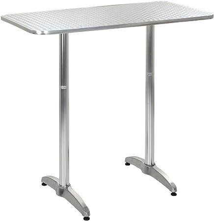 Tidyard Table de Jardin Hauteur Réglable | Table de Patio ...