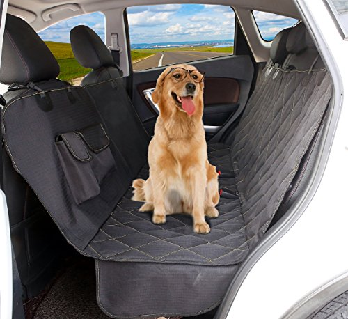 Axell Dog Car Seat Covers, Durable Ripstop, Reinforced Stitching, Waterproof, Scratch Proof, Non-Slip, Hammock Convertible Pet Seat Cover for Cars, SUV and Trucks.