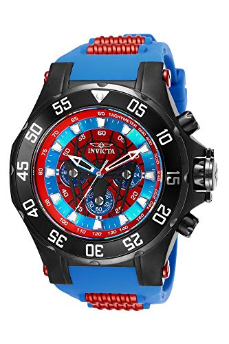 Invicta Men s Marvel Stainless Steel Quartz Watch with Silicone Strap, Blue, 24.4 Model 25689