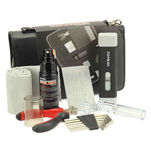Zuanjia Gitarre Pro Pflege-Set für Gitarren-werkzeug für Uhrarmband-Gitarrensaiten, Full-Repair Pflege-Tech Set mit Saitenkurbel für Gitarren (Cutter, für Gitarren und Bridge Pin Puller