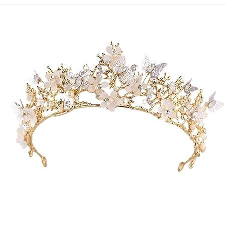 Littlefairy Braut Krone Schmetterling Blume Kristall Krone