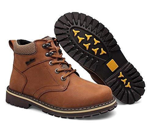 Taglie Taglie Stile di Stivali Marrone Peluche Invernali Colore Alta Maschili Caldi 44 FuweiEncore Forti Dimensione Classico qwCxdqf