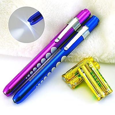 Onh medical nursing led penlight for doctors pupil gauge healthcare with nurses white light 2PCS