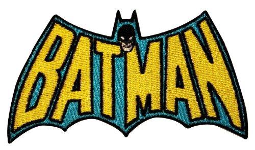 (DC Comics Batman TV Logo Licensed Embroidered Iron On Movie Applique Patch DC09)