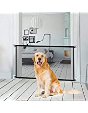 Magic Gate for Dogs LHSM 72 * 180CM Portable Pet Safety Enclosure with four Adhesive Hooks Easy to Install Folding Pet Isolation Net Suitable for Mideium Small Dogs