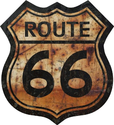 "ProSticker 813.18  18"" Route 66 Series Junk Yard Flag Decal"