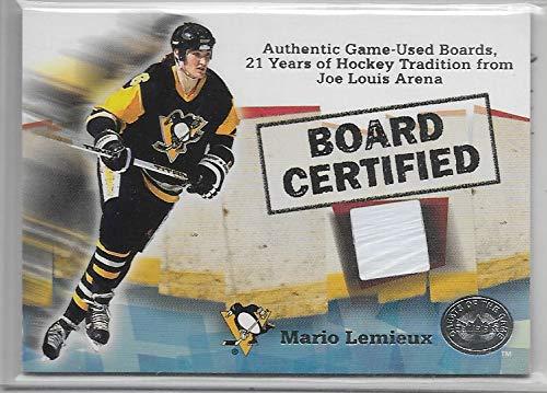 Arena Joe Louis - 2001-02 Greats Of The Game Hockey Mario Lemieux Joe Louis Arena Boards Card