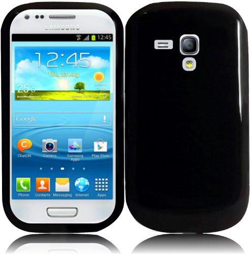 For Samsung Galaxy S3 Mini i8190 TPU Cover Case Black Accessory