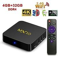 AKImart MX10 Set-top TV BOX, Rockchip RK3328 4GB + 32GB Quad Core Android 7.1 WIFI Support 3D 4K Streaming Media Player