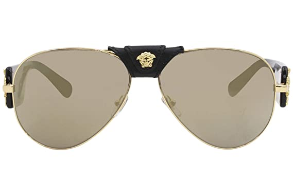 f36aeec21db3 Amazon.com: Versace Mens Sunglasses Gold/Brown Metal - Non-Polarized -  62mm: Clothing