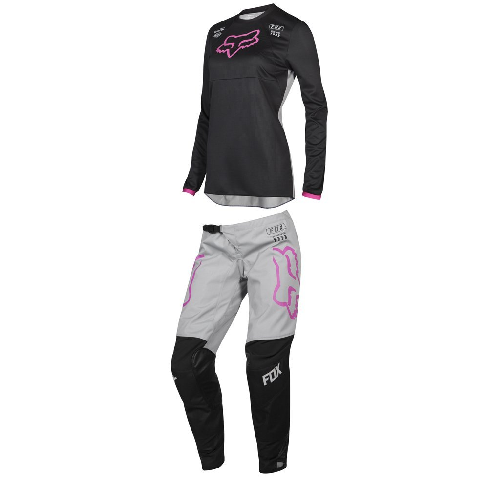 Fox Racing 2019 Womens 180 MATA Jersey and Pants Combo Offroad Riding Gear Black/Pink Small Jersey/Pants 6W by Fox Racing