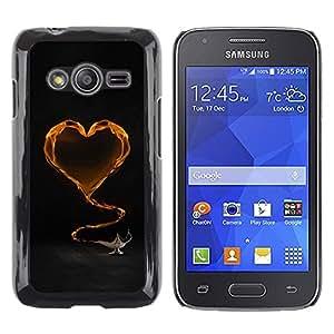 TopCaseStore / la caja del caucho duro de la cubierta de protección de la piel - Yellow Heart and tea - Samsung Galaxy Ace 4 G313 SM-G313F