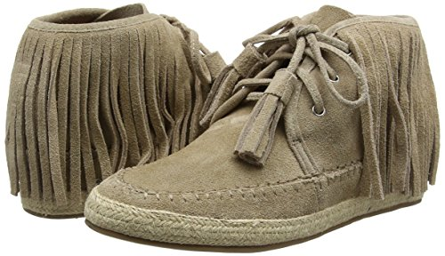 Mujer Coloured Boots Botines Beige La Frings Suede Natural With Strada qf8U8xE