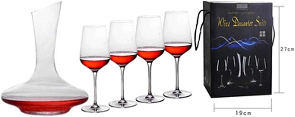 YONGMEI Copas de Vino Tinto Copa de Vino - Vino Tinto Vidrio/Cristal/Decanter/Goblet/Caja de Regalo/Regalo Creativo / 5 Juego de Pieza Vasos de Cerveza (Color : Clear): Amazon.es: Hogar