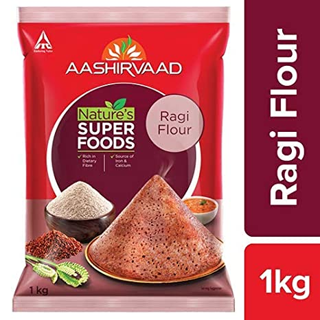 Aashirvaad Nature's Super Foods Ragi Flour Pouch, 1 kg