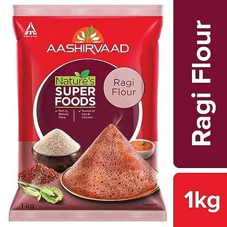 Aashirvaad Natures Super Foods Ragi Flour Pouch, 1 kg