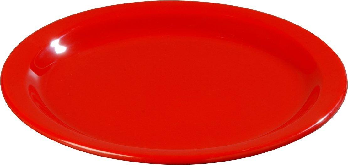 Carlisle 4350105 Dallas Ware Melamine Dinner Plate, 8.92'' Dia. x 0.80'' H, Red (Case of 48)