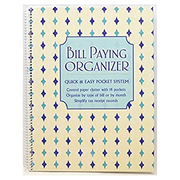 amazon monthly bill paying organizing organizer budget book with