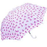 Best Girl Flip Flops - RainStoppers W104CHSHOE Girl's Flip-Flop Print Umbrella with Ruffle Review