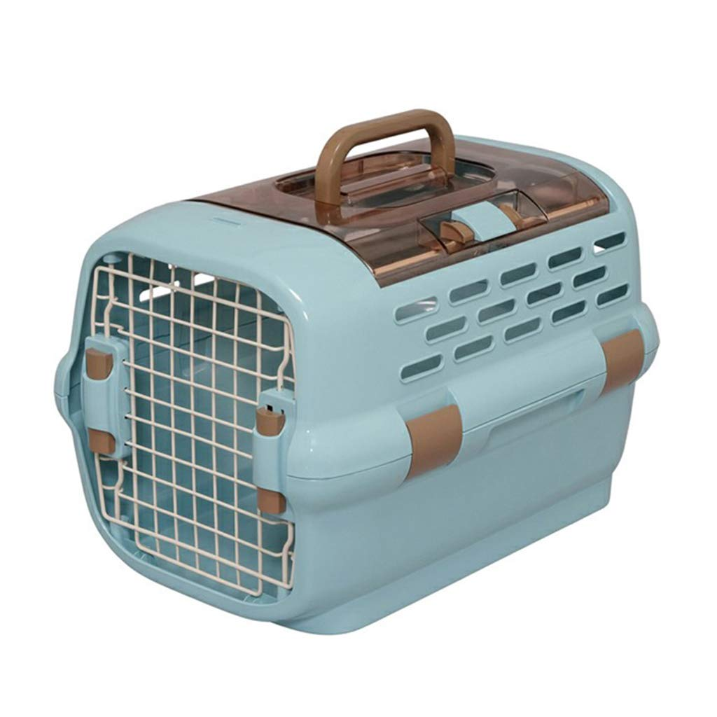 bluee X(05KG) bluee X(05KG) LWZ-Backpack Portable Breathable Pet Carrier Folding Outdoor Picnic Travel Pet Cage Pet Car Seat Pet Booster Seat Flight Airline Approved (color   bluee, Size   X(05KG))