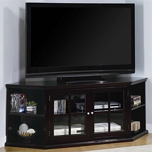 Hill Corner Tv Stand (Bowery Hill Transitional Corner Media Unit with Doors)