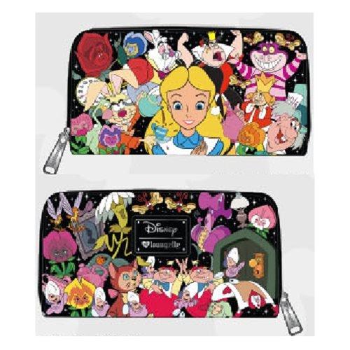 Top Alice in Wonderland and Friends Zip Around Wallet by Loungefly x Disney
