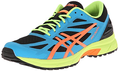 Asics Menns Gel-fujipro Løpesko Onyx / Flash Orange / Atom Blå