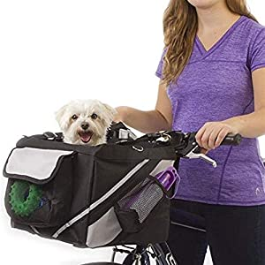 DIYHM 2 in 1 Pet Bicycle Carrier Shoulder Bag Puppy Dog Travel Bike Carrier Seat for Small Dog Basket Products Travel…