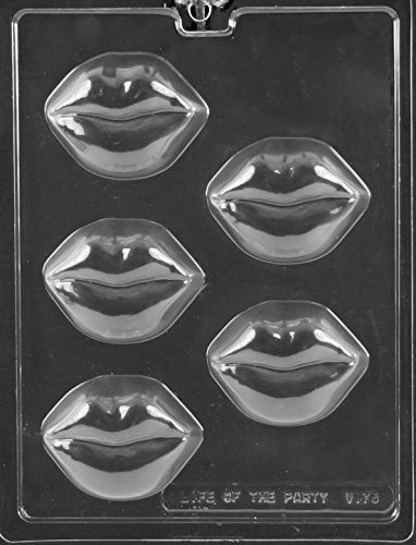 CybrTrayd V175 Lips Cookie Chocolate Candy Mold, Clear ()