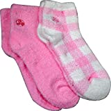 Aloe Moisture Socks by Earth Therapeutics, 2 Pack: Pink Plaid, Infused with Natural Aloe Vera & Vitamin E