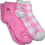 Aloe Moisture Socks by Earth Therapeutics, 2 Pack: Pink Plaid, Infused with Natural Aloe Vera & Vitamin E