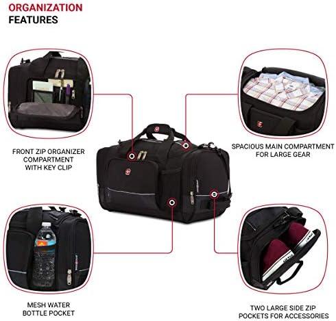 "SWISSGEAR 20"" Duffel Bag | Gym Bag | Travel Duffle Bags | Men's and Women's - Black"