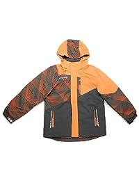 Free Country Boys Cubic Dobby YKK Zip Boarder Jacket, Orange